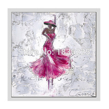 Hand Painted Abstract Canvas Painting ballerina Oil painting ballet dancers Wall Art No Framed Decoration Fashion Picture