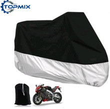 L/XL/XXL/XXXL Motorcycle Motor Bike Moped Scooter Cover Waterproof Rain UV Dust Prevention Cover Black+Silver Large Size Cover(China)
