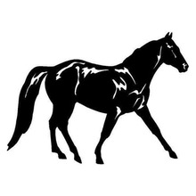 15.7*11.6CM Fox Trotter Horse Fashion Car Styling Decal Vinyl Car Truck Body Stickers Black/Silver C9-0772(China)