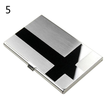 1pc table Note Card Holder Case Cover Waterproof Stainless Steel Metal Case Box(China)
