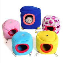 Mini Pet Hanging Bed House for Small Hamster Guinea Pig Ferrets Marten Squirrel Teacup Dog Bed Cage Newborn Puppy Sleeping Bag(China)