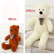 Big 80cm 100cm Giant Teddy Bear Plush Toys Soft Stuffed Teddy Dolls Huge Ted Gifts for Baby Kids Girlfriends(China)