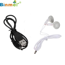 Factory Price Binmer 3.5mm In-Ear Earphone Headset For Tablet MP3+Data Cable Drop Shipping Hot Selling Good Quality