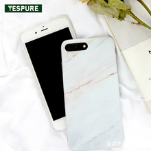 YESPURE White Marble Mobile Phone Silicone Case for Iphone 7plus Hot Sale Phone Accessories Mobile Cheap Cell Phone 5.5inch