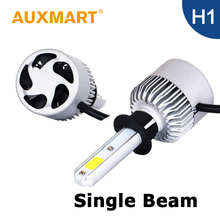 Auxmart H1 LED Headlight Kit 72w/set COB Chips Car LED Head Light Bulbs Auto Head Lamp 6500k
