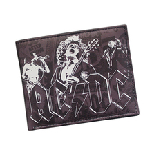 5 pcs/lot Wholesale Classic Rock Band Wallet ACDC IRON MAIDEN Metallica Nirvana Wallet For Men Women Fans Vintage Wallet Bifold