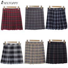 Buy 2017 Women Fashion Summer high waist pleated skirt Wind Cosplay plaid skirt Kawaii Female Skirts Vintage England Mini Skirts for $9.64 in AliExpress store
