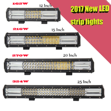 2017 New LED Work Light Bar Spotlight Flood Lamp Driving DRL Fog Offroad LED Work Car Lights for Jeep Toyota SUV 4WD Boat Truck