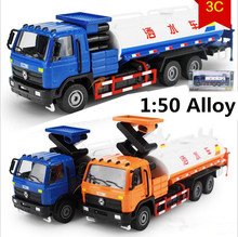 1:50 Alloy sprinkler,kadiwei model,Automotive Engineering,Diecast metal Truck Toys,watering car,free shipping(China)