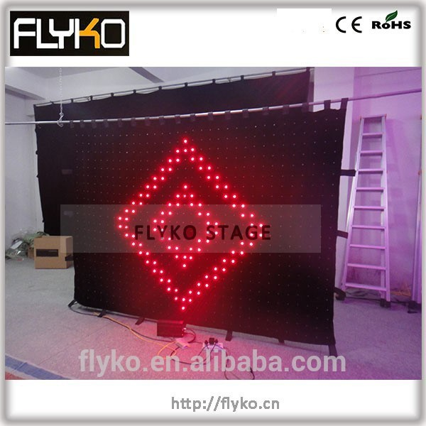 Free shipping ali expres china P90 LED Video Wall Soft Flexible LED Curtain for Stage Lighting(China (Mainland))