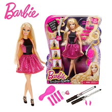 Original Barbie Doll Toys Pink Fantasy Hair Suit Barbie Clothes Barbie Accessories Educational Toy Best Birthday Gift For Girls(China)
