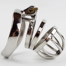 Lastest Steel Male Chastity Device and Arc Base Ring New Design Lock Sex Toys for Men(China)