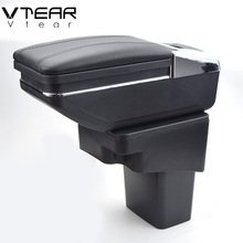 Vtear For Hyundai Solaris/Verna/Grand Avega armrest box central Store content box with cup holder ashtray car-styling accessory