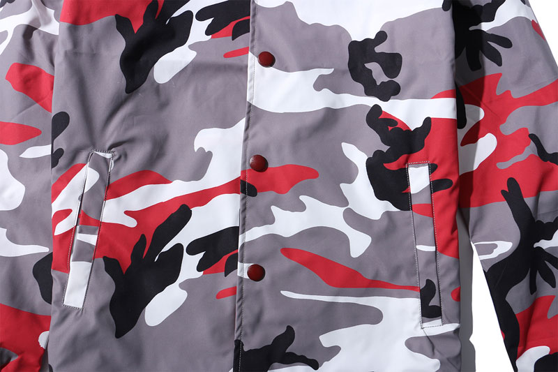 Color Camo Windbreaker Coaches Jackets 11
