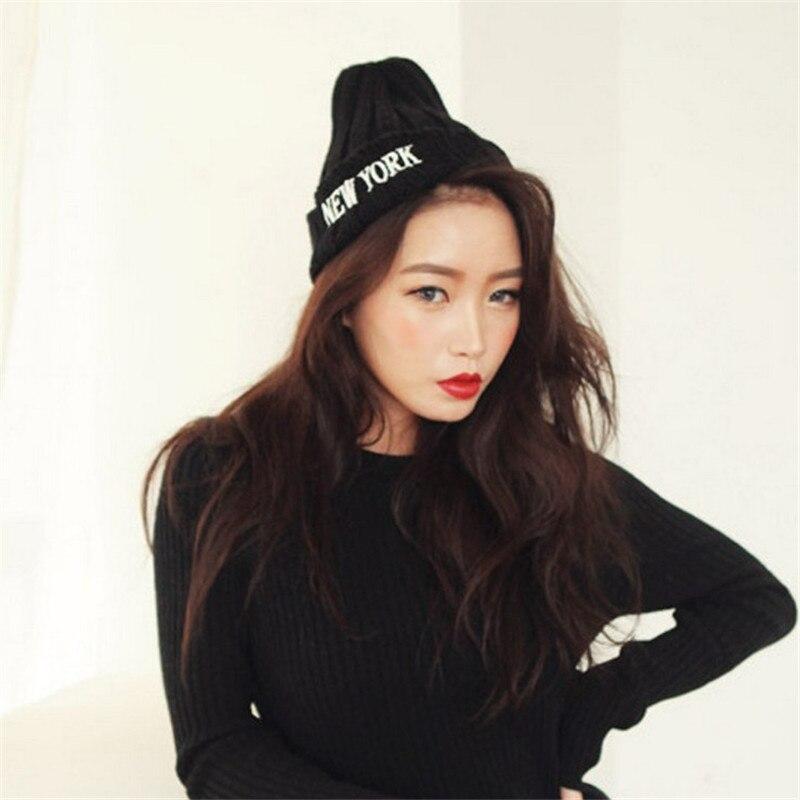 2016 New Autumn Winter Beanies Hat NEW YORK Letter Woolen Winter Hats Fur Cap For Woman Hip Hop Knitted Wool Skullies Caps Îäåæäà è àêñåññóàðû<br><br><br>Aliexpress
