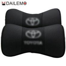 DAILEMO Car Seat Cover Neck Support 2Pcs/set Leather Car-seat Covers Headret For TOYOTA RAV4 CROWN COROLLA CAMRY LAND CRUISER