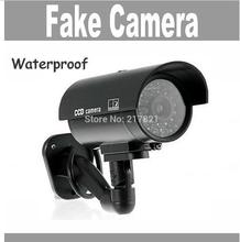 Waterproof Fake Camera Outdoor Dummy Security Camera Fake CCTV Bullet Camera Light for Home Security