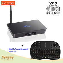 3GB/16GB 3GB/32GB X92 Smart TV Box Amlogic S912 Android 6.0 Octa-core 2.4GHz/5.8GHz Dual Band WiFi 4K H.265 Ste top Box(China)