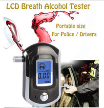 Factory Outlets Professional Police Digital Alcohol Tester Breath Analyzer Breathalyzer LCD Detector Freeship+5pcs Mouthpieces(China)