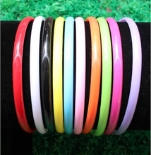 multicolor cute boutique spring thin kids children baby girls plain plastic headbands hair clasp accessories wholesale hairbands(China)