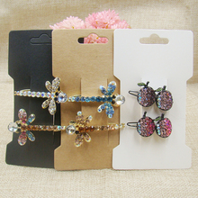 zerongE jewelry Paper Jewelry Hair Accessories Clips Band Hair Claw Packaging Display Card 200pcs/lot 6.5*11.50cm(China)