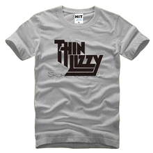 t-sihrt 3d Heavy Metal Rock Band Thin Lizzy T Shirt Men Tops Music Pop Men T-shirt Short Sleeve Cotton O-neck Tee Tops(China)