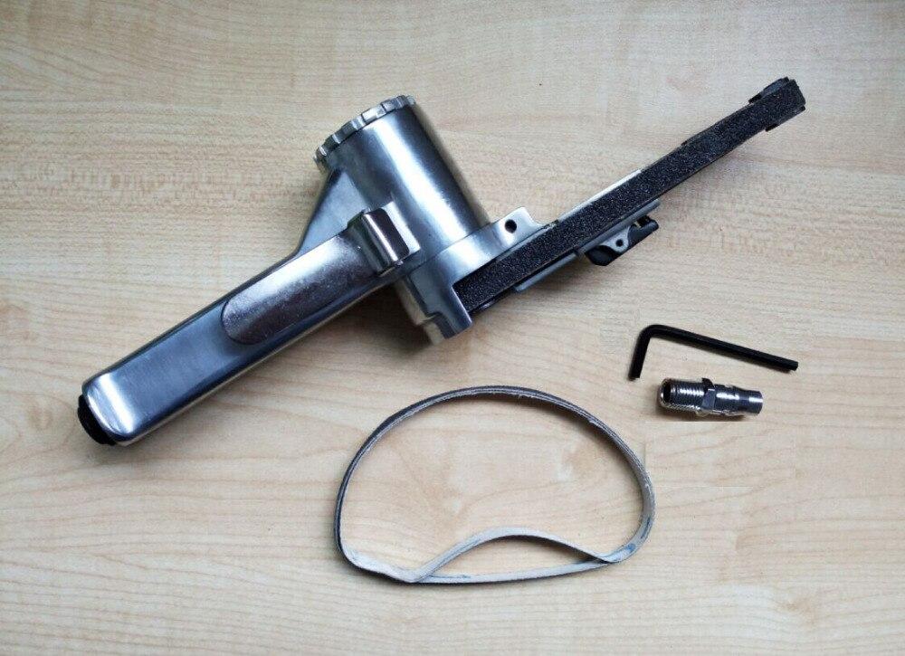 20pcs/lot 10mm*330mm air belt sander pneumatic belt sander for metal or wood sanding grinding<br>