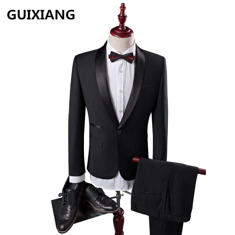 2018 autumn Men's Fashion Coat Slim Wedding Dress Formal Wear Blazer High Quality suits men woolen Blazers Casual Business Suits