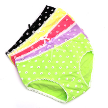 Buy 1PcsLadies Panties Underwear Women Lovely Seamless Lingerie Briefs Small Daisy Pattern Panties Knickers Lady Underpants Pant