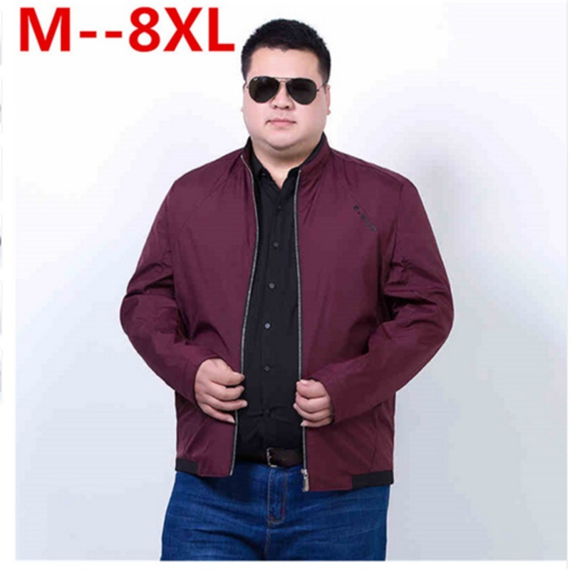 Plus size 10XL 8XL 6XL 5XL New 2018 Jacket Men Fashion Casual Loose Mens Jacket Sportswear Bomber Jacket Mens jackets and Coats