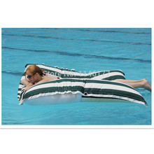 ywxuege Black and white stripe color Swimming floating cushion is suitable for outdoor surfing lazy sofa   polyester Drift