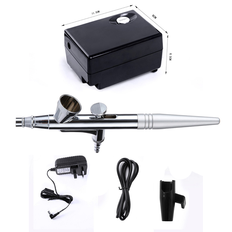 Air Brush Compressor Airbrush 0.4mm Needle Foundation makeup Kit Air Gun For Face Paint Airbrushes Nail Temporary Tattoo Kit <br>