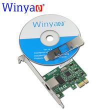 Winyao WY1000T1 PCI-E X1 10/100/1000M RJ45 Gigabit Ethernet Network Card Server Adapter Nic For Intel 82574L EXPI9301CT/9301CT(China)