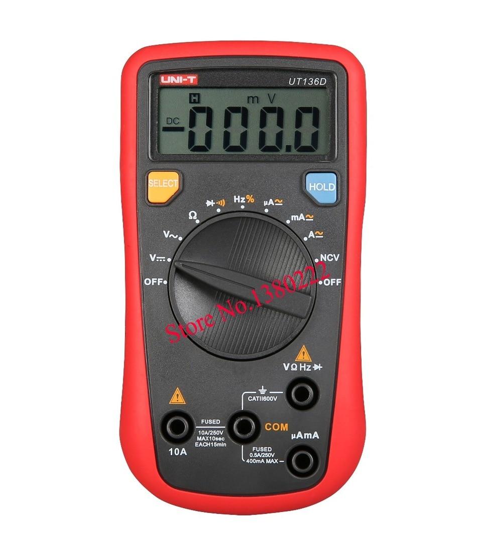 UNI-T UT136D Auto Range  LCR Meter  Multitester Data Hold DMM Digital Multimeters w/ Frequency Duty Cycle Test <br><br>Aliexpress