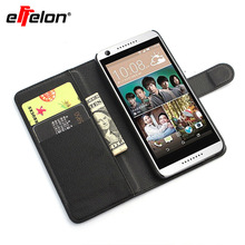 Effelon Llitchi texture PU Leather Flip Stand Case For HTC Desire 626 phone bag with credit card holder(China)
