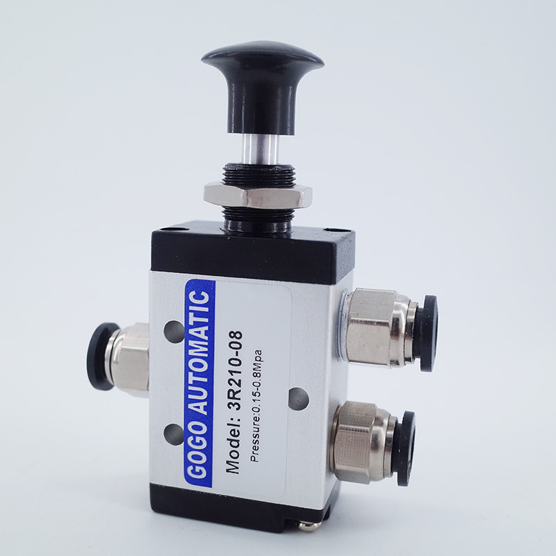 Two-Position Hand Valve G3//8-Inch Button Switch 4R310-10