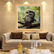 3D Diamond Painting Cross Stitch Pattern 5D Diamond Embroidery Owl Mosaic Resin Full Drill Home Decor DIY Painting 25*25CM