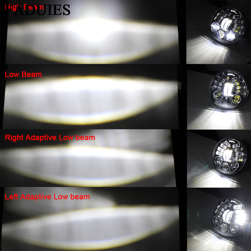 FADUIES 2018 New 5.75 inch Motorcycle Adaptive Cornering Led headlight For Harley 5-34 Motorcycle Black Projector Daymaker (13)