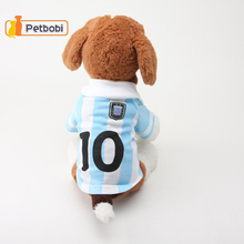Sport Football Pet Jersey Coat Small Dogs Soccer Leisure Clothes Cats Puppy Teddy Poodle Suit Jacket Supplies Hot-Sale 2016 New