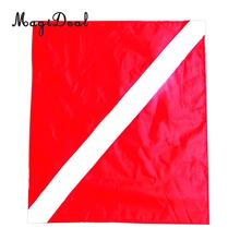 MagiDeal Universal Nylon Diver-Down Boat Flag Red&White Scuba Dive Flag Marker Banner 20x24 for Boat Kayak Jet Ski Float Supply(China)