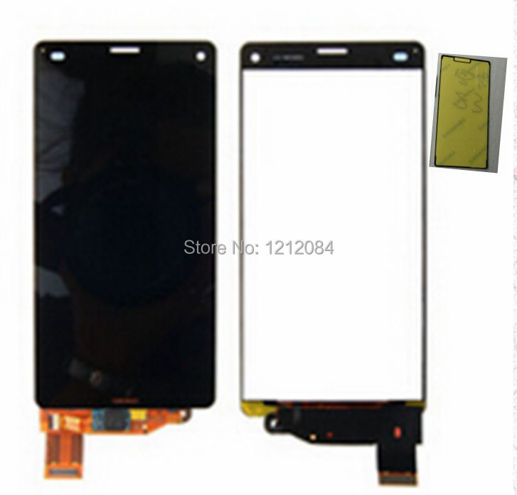 For Sony xperia z3 compact d5803 d5833 Lcd Display+touch glass digitizer assembly+front adhesive tape replacement screen<br><br>Aliexpress