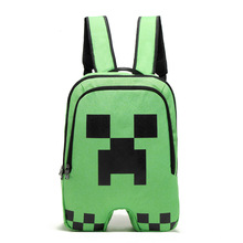 Hign Quality Minecraft Backpack Canvas Zipper Creeper Travel Leisure Bag Bts Back To School Vance Sac A Dos Backpacks(China)