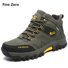 Fine Zero mens plus size 46 47 warm fur outdoor shoe snow boots winter brand anti-skid mountain climbing boots male hiking shoes