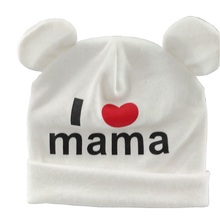 Bnaturalwell Sweet I Love Mama Beenies Baby cotton hat Toddler cute Beanie Skullcap Winter Hat Grey Infant Skull Cap 1pc H042S(China)