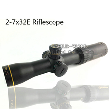 Hunting 2-7x32 Professional Red Green Dot Sight Tactical Rifle Scope Airsoft riflescope For Shotgun Outdoor Sports Hunting