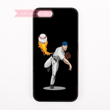 man paly Baseball serve ball  Hard Back Cover Phone Case For iphone 4 4s 5 5s 5c se 6 6S plus 7 7 Plus case unique cool illust