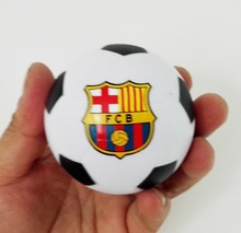 6.3cm dia CF Barcelona  football stress ball,Barcelona soccer toy,Barcelona ball 4pcs/lot  free shipping