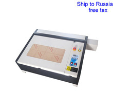 4040 50W CO2 laser engraver with 50W laser tube honeycomb equips to Russia free tax