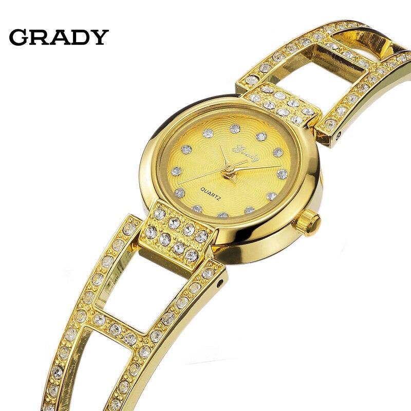 GRADY Watch women brand gold watch beautiful birthday gift Luxury 18K gold band womens watches free shipping<br>