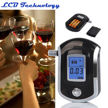 5pcs/lot wholesale Professional Alcohol Breath tester alcohol detector breather alcohol test analyzer AT-6000